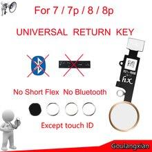 Design universel bouton maison sans contact ID pour IPhone 7 8 7plus 8plus Flex câble restauration ordinaire bouton daccueil fonctions de retour