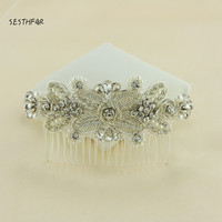 By Handmake New Headwear Vintage pearl Hair 2018 Bridal Hats Pearls Flowers Beaded Handmade for Brides Wedding Accessories