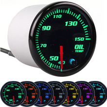 Oil temperature Gauge Car Auto 12V 52mm 7 Color Universal Boost Water temp Oil pressure Voltmeter Air fuel ratio Tachometer RPM