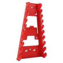 Новинка, 1 шт., 9 слотов, держатель для гаечного ключа, красная пластиковая стойка для гаечного ключа, стандартный органайзер, держатель для хранения инструментов, гаечные ключи, хранитель