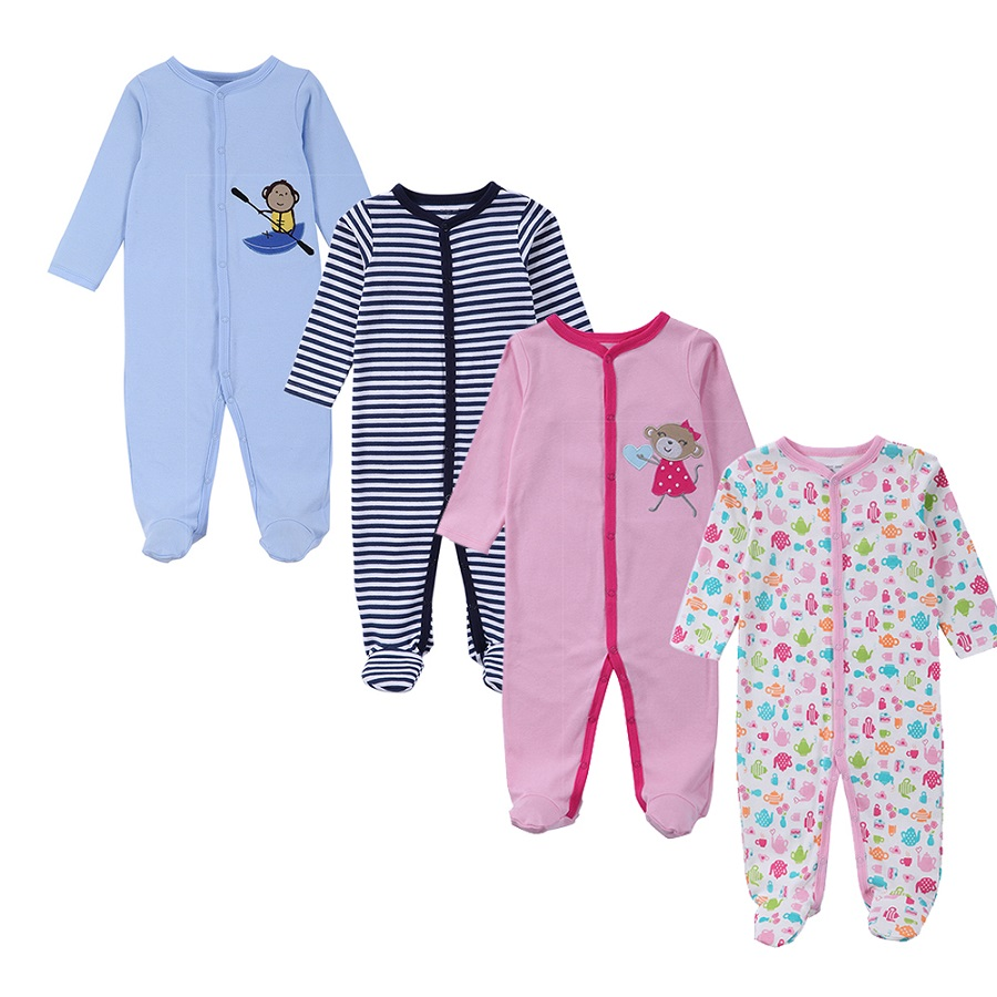 2018 Newborn Baby Clothes One Pieces Baby Jumpsuits Infant Twins Boys Girls Long Sleeve Jumpsuit Jumper Clothing Baby Overalls
