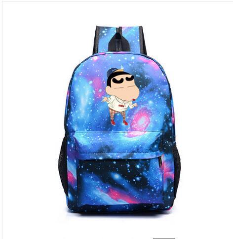 Anime Crayon Shinchan Cosplay Backpack Canvas bag middle school student shoulder bag couple backpack travel canvas bag