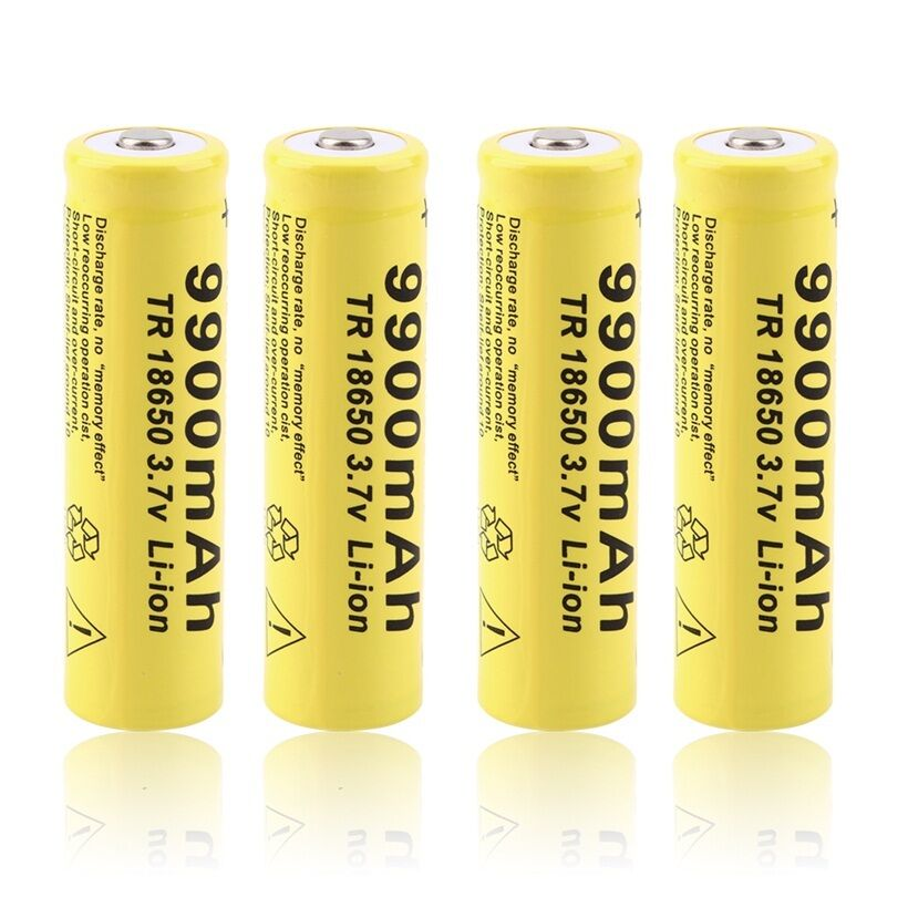 GTF 3.7V 18650 Battery Lithium Battery 9900mAh 3.7V Rechargeable Battery Li-ion Lithium Bateria For Flashlight