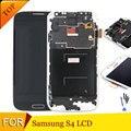 Nueva s4 i9500/i9505 lcd para samsung galaxy s4 i9505 i9500 lcd de pantalla táctil digitalizador reemplazo del conjunto del marco