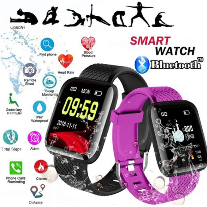 Slimy Smart Watch Fitness Tracker Heart Rate Blood Pressure Monitor Smartwatch IP67 Waterproof Color Screen Wristwatch for Sport