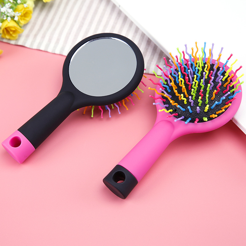 2 in 1, Mirror + Comb for Hair, Health Hair Care Styling, Hairbrush, Natural Massage, Hair Loss products