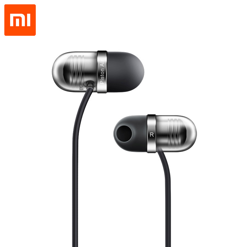 Original Xiaomi Mi In-Ear Earphone Capsule Piston Air With Mic Earphone Silicone Earphones For Xiaomi Mobile Phone Computer PC original xiaomi xiomi mi hybrid earphone 1more design in ear multi unit piston headset hifi for smart mobile phone fon de ouvido