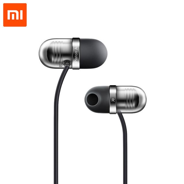 Original xiaomi mi in-ear auricular cápsula de aire de pistón con micrófono auricular auriculares de silicona para xiaomi teléfono móvil ordenador pc