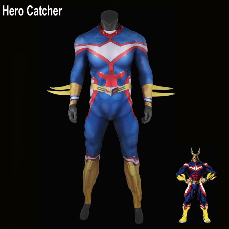 Hero Catcher Top Quality All Might Cosplay Costume Muscle Padding All Might Costume For Man