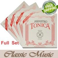 Freeshipping Free Shipping Pirastro Tonica Full Set 412021 Violin String Ball End Nylon String Made In