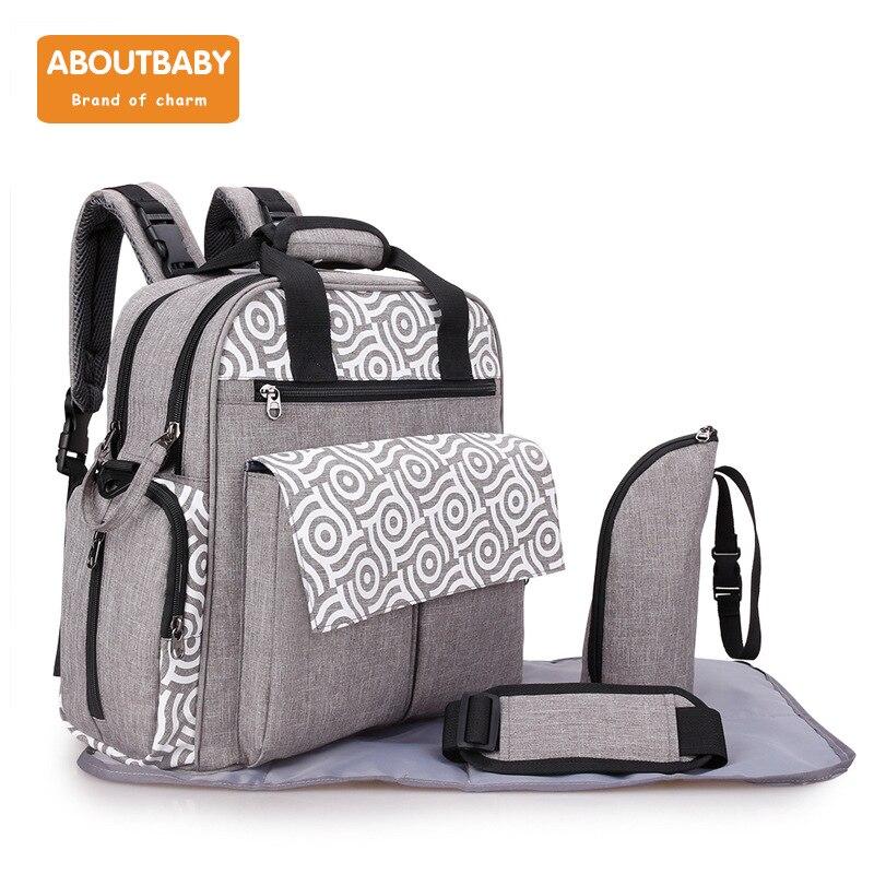 Large Capacity Baby Diaper Backpack Nappy Bag Designer Tote Cute Nursing Bag for Girls Boys Mothers Maternity Stroller Bag
