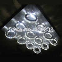 Modern LED Crystal Ceiling Lighting Fixture Newest Design Factory Price 12 Rings