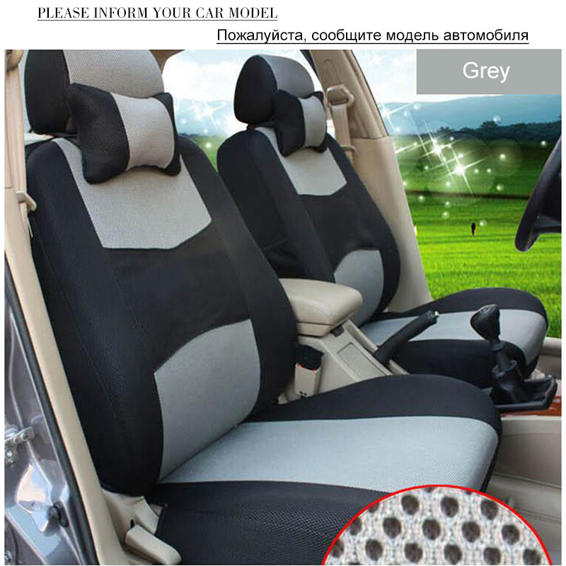 Image 4 - O SHI CAR Breathable Car Seat Cover Sandwich Mesh Material Four Seasons Universal Five seater Auto Covers Pad for Most Cars-in Automobiles Seat Covers from Automobiles & Motorcycles
