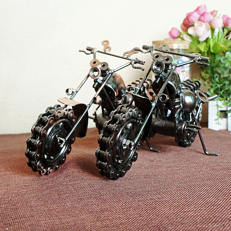 Buy cool retro iron motorcycle model for Motorcycle decorations home
