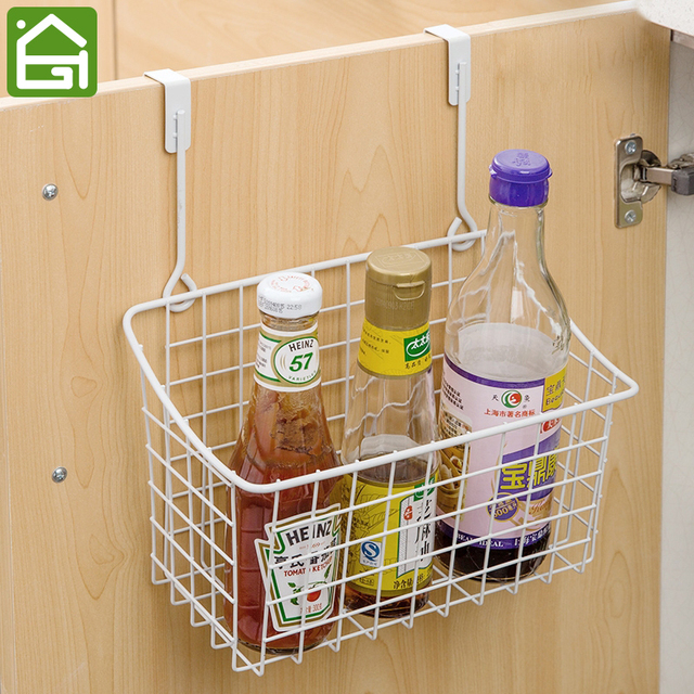 Kitchen Storage Basket Cabinet Over Door Hanging Food Container Cupboard Hanger Organizer Back Wire Baskets
