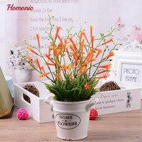 Artificial Planta En Maceta Mini Planta Fake Realista Decorativo Flor artificial bonsai Plantas de interior en casa de decoración florero