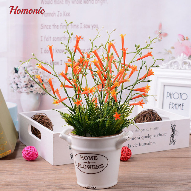 artificial plants potted mini fake plant decorative lifelike flower