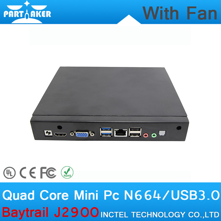 1G RAM ONLY Pentium Baytrail MINI PC With Fan J2900 with Baytrail Quad core CPU support