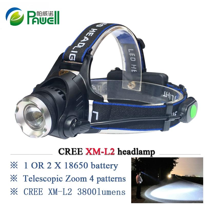 powerful CREE XML T6 XM L L2 led headlamp LED headlight ...
