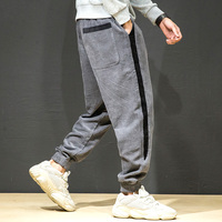 Baggy Corduroy Pants Men Fashion Hip Hop Harem Pants Harajuku Joggers Sweatpant Striped Vintage Japanese Streetwear Men Clothing