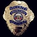 1 шт./лот, Brand new США полиция Безопасности Сотрудников правоохранительных органов, Медь значок 78 мм х 55 мм х 2 мм
