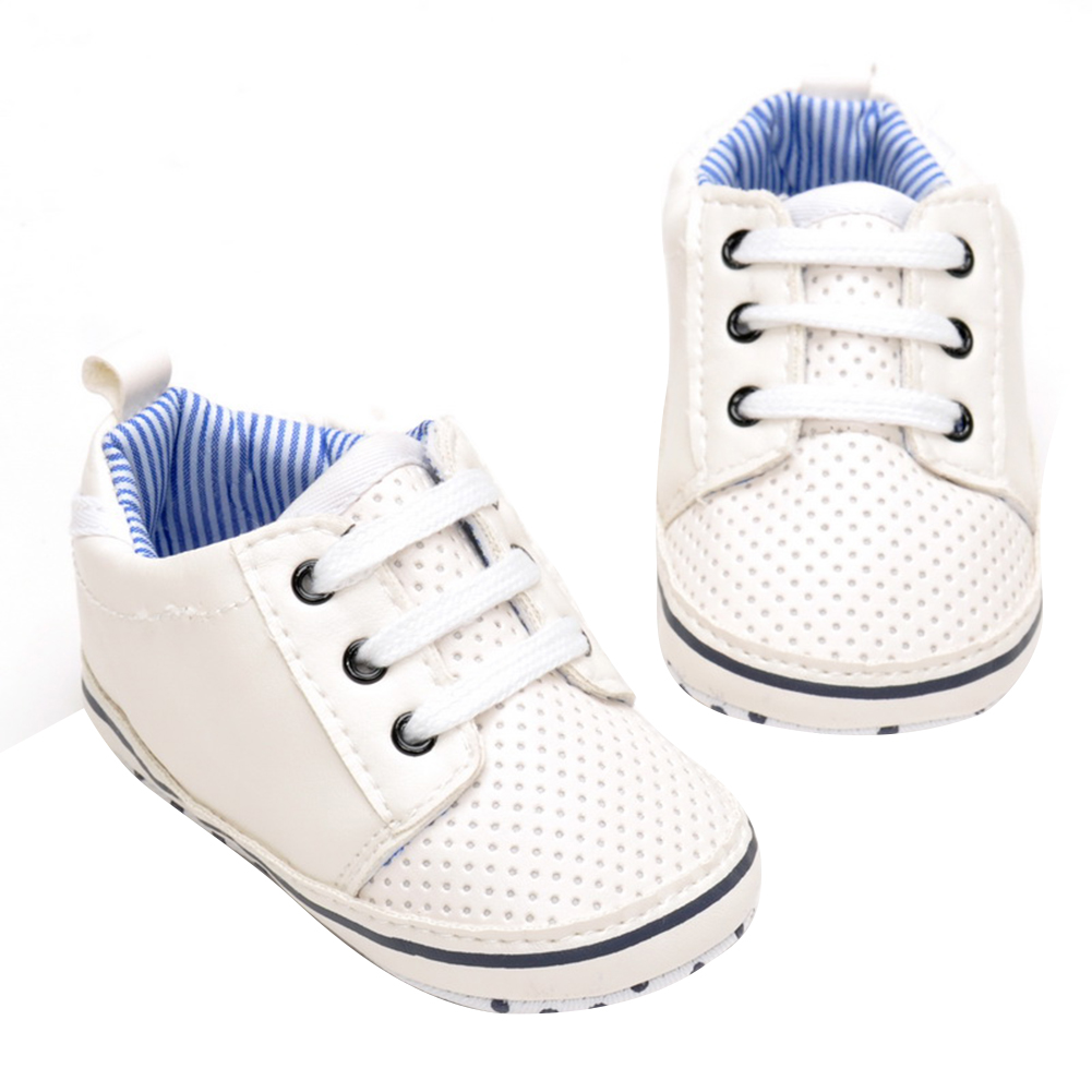 Baby Shoes Infant Boys Girls Soft Soled PU Leather Anti-slip Sneaker Toddler Kids Casual Prewalker First Walkers