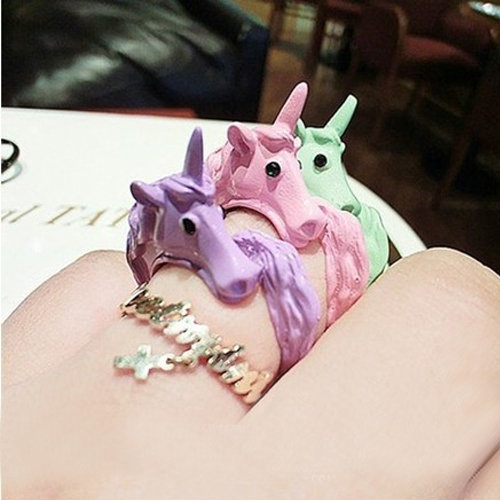 1pc 2014 Korean Lovely Candy Color Unicorn Finger ...