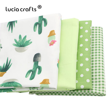 Lucia crafts 1piece/lot Cactus Stripe Cotton Fabric Printed Patchwork DIY Child Cloth Sewing Fat Quarters Materials I03C3G03C