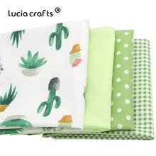 d0beead7a10c Lucia artesanato 1 peças/lote Cactus Impresso Colcha de Retalhos de Tecido  de Algodão Da