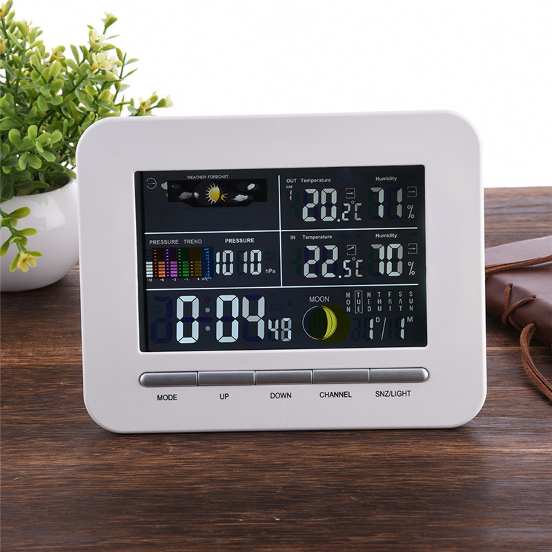 Free Shipping wireless Weather Station with Outdoor Temperature and humidity sensor LCD display, Barometer weather station digital lcd temperature humidity meter