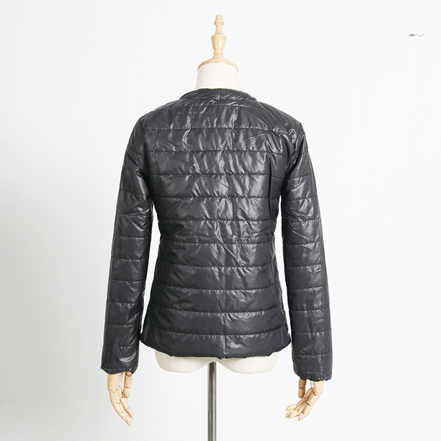 2017 New Fashion Winter Spring Cotton Coat Short Slim Padded Warm Casual Women Jacket Black Outwear Thin Female Clothes