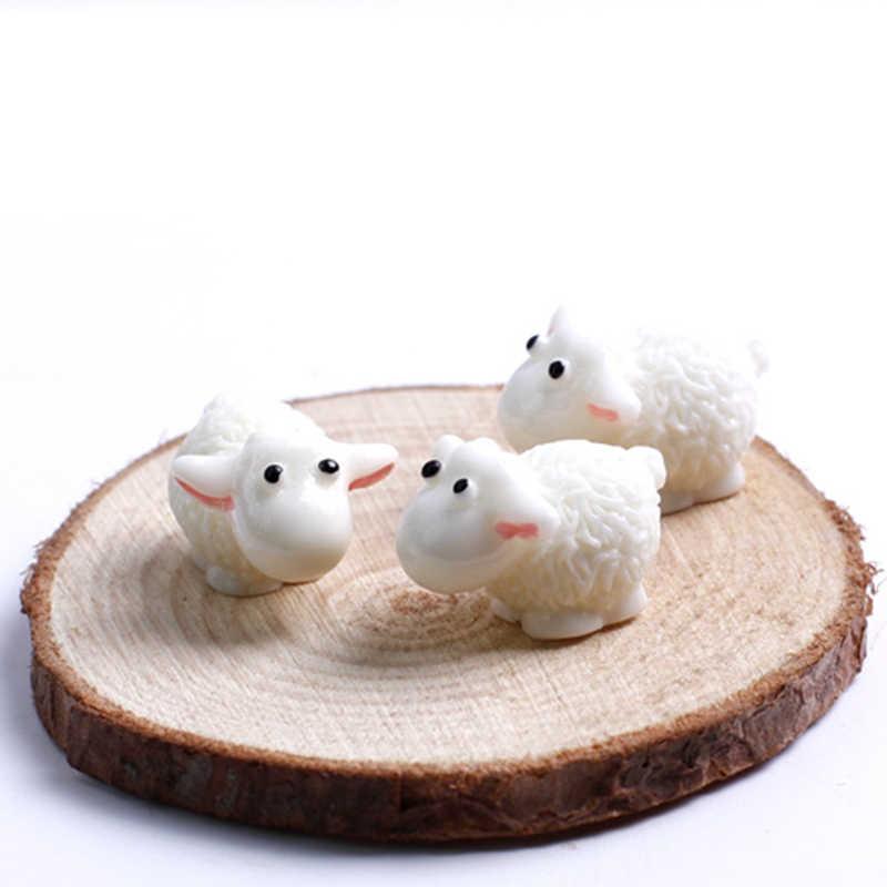 5 шт./компл., новинка, милая смола, мини овца, микро фигурки, миниатюрные, домашний декор для свадебной вечеринки, аксессуары для DIY, приблизительно 1,5*2 см