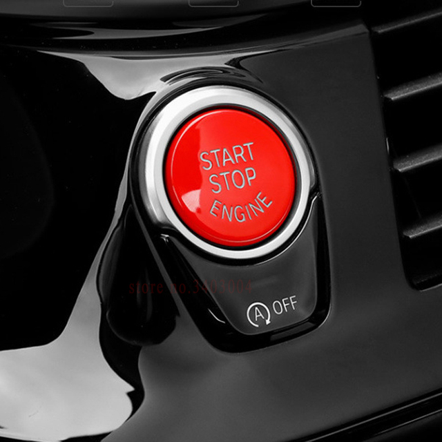 1PCS Car Styling ABS Red Engine Start Stop Button Replace Upgrade For BMW F30 F10 F34