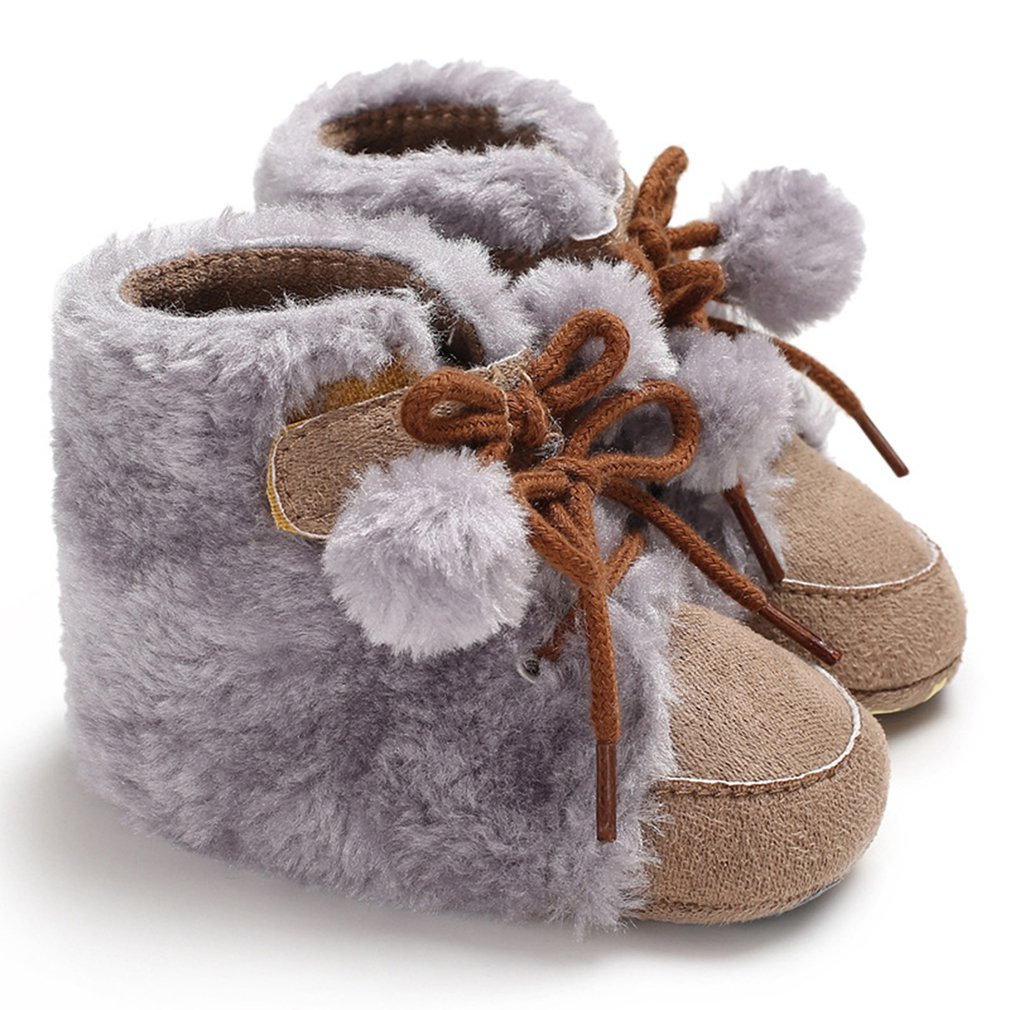 Baby Moccasins Shoes Bootie Soft-Sole Toddler Infant Winter Warm Cute Cotton C-61 Comfortable