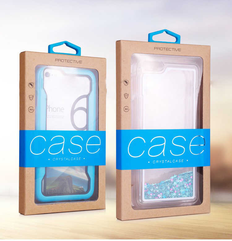 50 pçs logotipo personalizado kraft caixa de papel para iphone x caso de embalagem varejo para nota 8 caso para iphone 8 plus para iphone 7