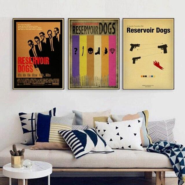 Reservoir Hund Klassische Retro Kraftpapier Poster Bar Cafe Wohnzimmer Esszimmer Wand Dekorative Gemalde In Reservoir Hund Klassische Retro