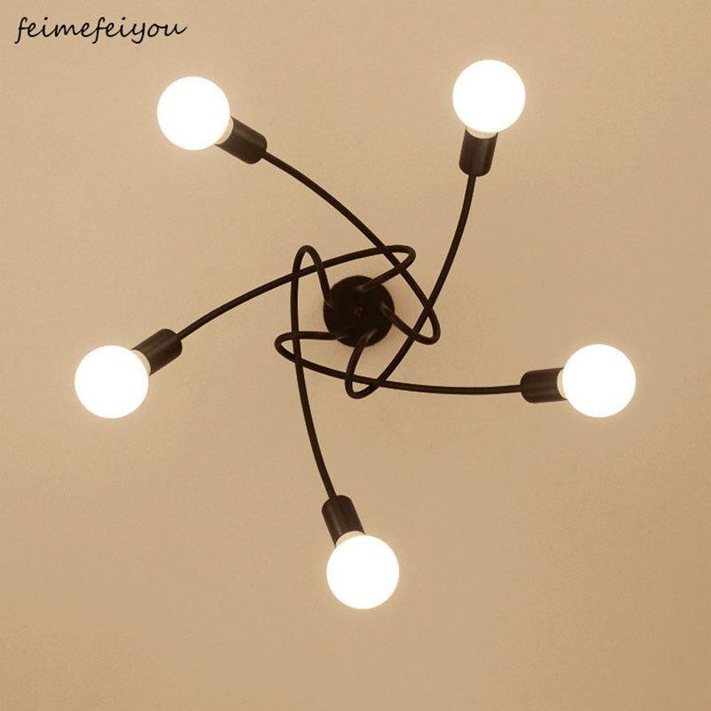 Современные потолочные светильники для гостиной, спальни, столовой, светильник в скандинавском стиле, железный металлический распылитель, черный, белый, красный цвета|Потолочные лампы|   | АлиЭкспресс