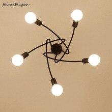 現代の天井照明リビングルームベッドルームダイニングルームランプ北欧シンプルなスタイル鉄金属スプレー塗装工程黒、白、赤