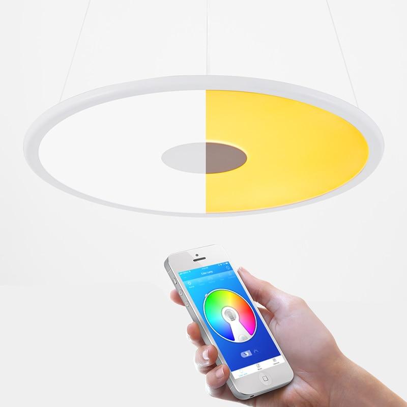 OFFDARKS LCD YB 36 36W LED de Control remoto altavoz inteligente Bluetooth luz colgante