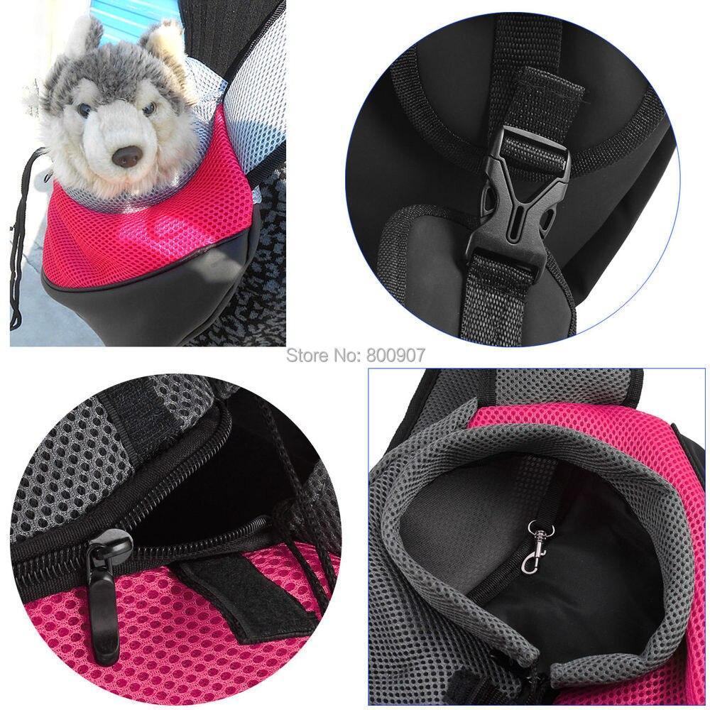 Pet Carrier Carrying Cat Dog Puppy Small Animal Sling Front Carrier Mesh Comfort Travel Tote Shoulder Bag Pet Backpack SL 5