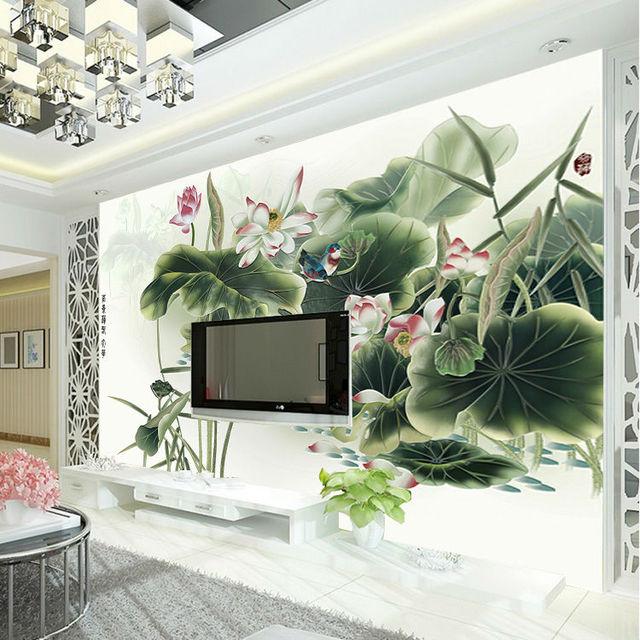 US $20.23 25% OFF|Klassische Lotus malerei Tapete Benutzerdefinierte  Wasserdicht fototapete 3D Kunst Wandmalereien Schlafzimmer wohnzimmer  Kinder ...