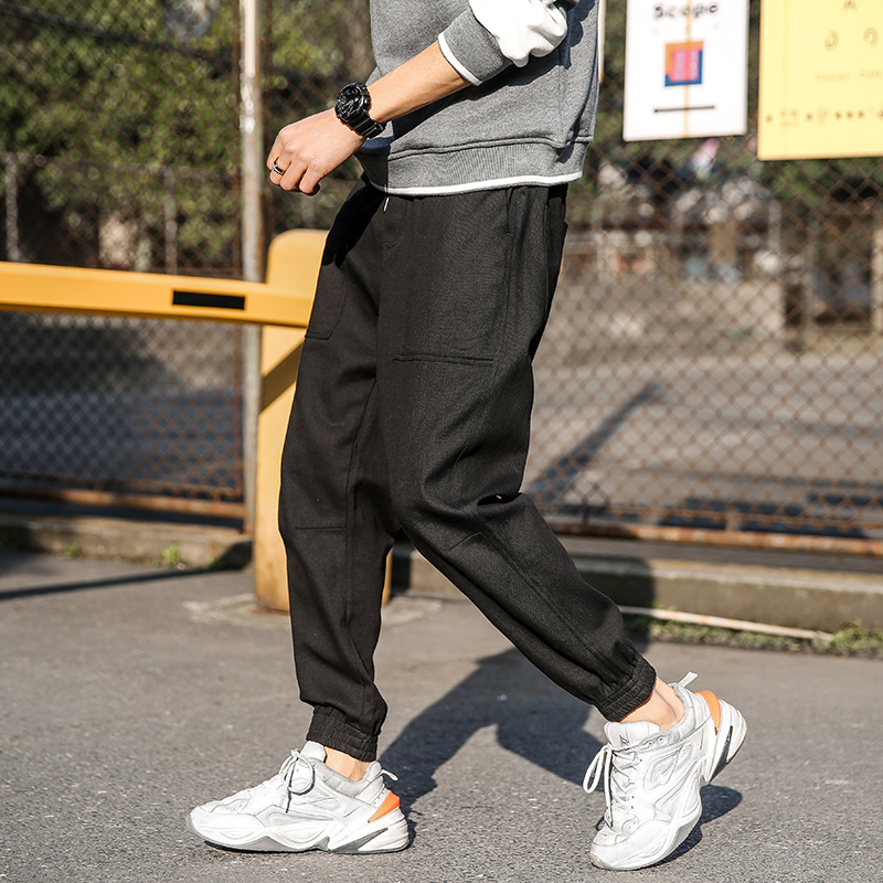 MZJ7004 2019 Summer Gym Sport Pants Running Jogging Men's Sweatpants Skinny Joggers Pants Men(China)