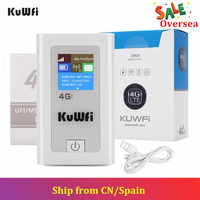 KuWFi Power Bank 4G LTE Router 3G/4G Sim Card Wifi Router Pocket 150Mbps CAT4 Mobile WiFi Hotspot with SIM Card Slot