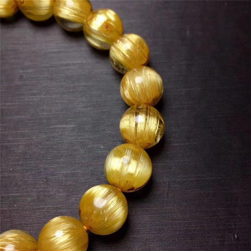 Natural Rutilated Titanium Quartz Bracelet (6)