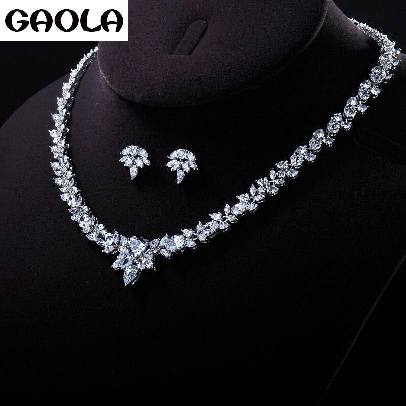 Gaola Women S Luxury Wedding Jewelry Set Flower Shape Necklace Earrings With Aaa Cz Bridal Jewelry Sets Gln0162 4657 Luxury Wedding Jewelry Set Wedding Jewelry Setsjewelry Sets Flowers Aliexpress