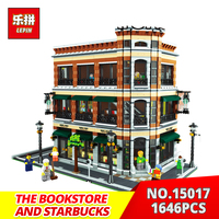 Lepin Building Bricks 15017 4616pcs The Starbucks And Bookstore Model Building Blocks Kits Toys Funny Gifts