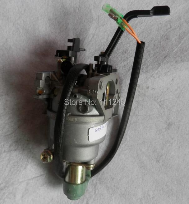 Carburador W/solenoide choke manual para Honda GX390 188F E * 6500 5KW genset CARB 6.5KW generador carburador