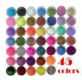 12 цвета/18 цвета/45 цветов nail art блеск порошок, nail art fine glitter powder, nail art инструменты для декорирования, маникюр инструменты