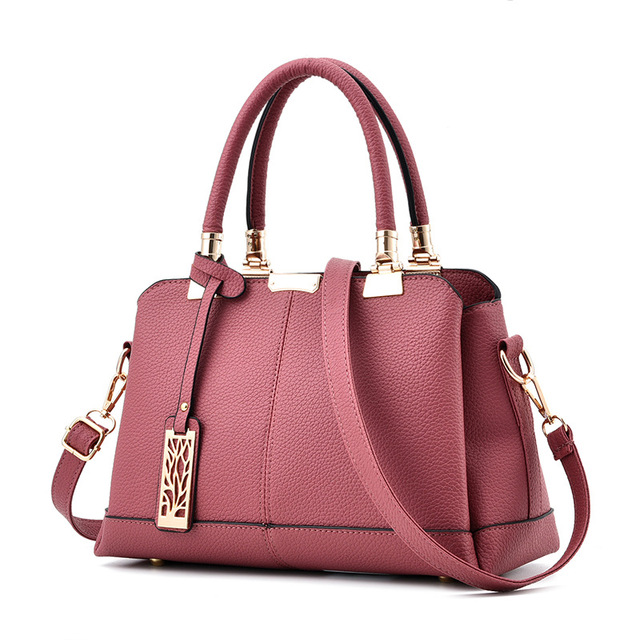 6d0a097b2ed2 Women Bag Pu Leather Tote Brand Name Bag Ladies Handbag Lady Evening Bags  Solid Female Messenger Bags Travel Fashion Sac