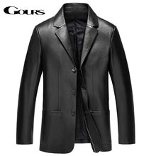 Gours Winter Genuine Leather Jacket for Men Fashion Brand Leather Suit